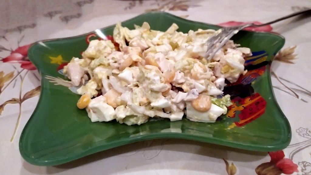 нежнейший салат с курицей и пекинской капустой